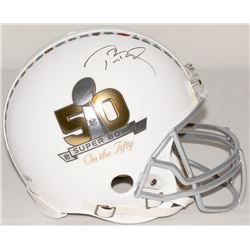"Tom Brady Signed Super Bowl ""On the Fifty"" Full-Size Authentic Pro-Line Helmet (TriStar)"
