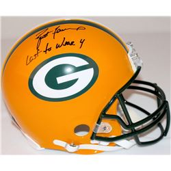 """Brett Favre Signed LE Packers Full-Size Authentic Pro-Line Helmet Inscribed """"Last to Wear 4"""" #5/44 ("""