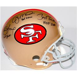 "Joe Montana, Jerry Rice  Steve Young Signed ""49ers Hall of Famers"" Full-Size Authentic Pro-Line Helm"