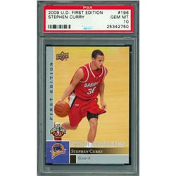 Stephen Curry 2009-10 Upper Deck First Edition #196 RC (PSA 10)