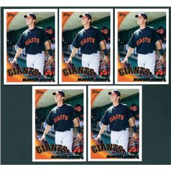 Lot of (5) Buster Posey 2010 Topps #2 RC