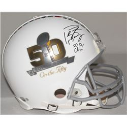 """Peyton Manning Signed LE Super Bowl 50 Full-Size Authentic Proline Helmet Inscribed """"SB 50 Champs"""" ("""