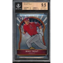Mike Trout 2011 Finest #94 RC (BGS 9.5)