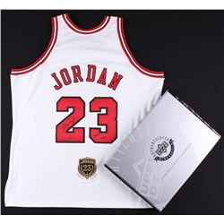 """Michael Jordan Signed Bulls Authentic On-Court Jersey with Hall of Fame Patch Inscribed """"2009 HOF"""" L"""