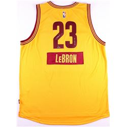 """LeBron James Signed LE Cavaliers Adidas """"2014 Christmas Day"""" Jersey Inscribed """"12-25-14"""" #2/14 (UDA"""