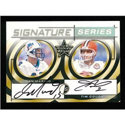 Dan Marino / Tim Couch 1999 Leaf Rookies and Stars Signature Series #SS30 #17/50