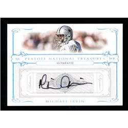 Michael Irvin 2007 Playoff National Treasures Signature Silver #63 #44/50