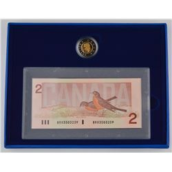 RCM 2 x 2$ - Proof 2$ Coin & Banknote - 1996