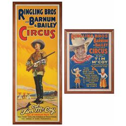 Tim McCoy Ringling Bros Original Lithograph Posters