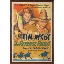 Tim McCoy Original Lithograph Movie Poster