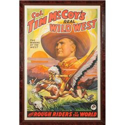 Tim McCoy's Real Wild West Original Lithograph Poster