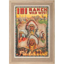 101 Ranch Wild West Original Lithograph Poster