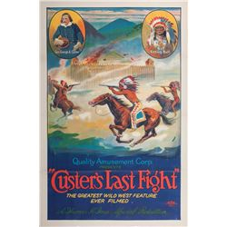 """Custer's Last Fight"" Original Lithograph Film Poster"