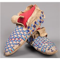 Early Sioux Beaded Moccasins