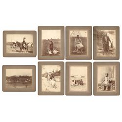 Lot of Eight Original Photographs of Native Americans