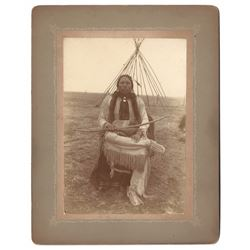 Original Photograph of Native Man with Bow and Arrows