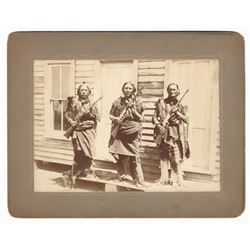 Original Photograph of Three Armed Indian Men