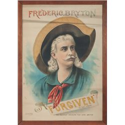 Frederic Bryton 1880s Stage Play Original Lithograph Poster