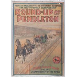 "Scarce ""Round-Up at Pendleton"" Original Lithograph Movie Poster"