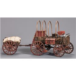 Roy Luttrell Miniature Chuck Wagon with Cart