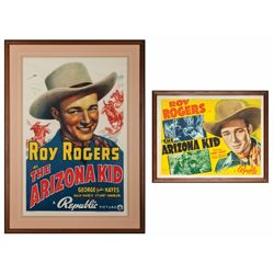 "Pair of Roy Rogers ""The Arizona Kid"" Original Lithograph Movie Posters"
