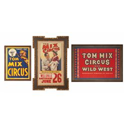 Three Tom Mix Circus Original Lithograph Posters