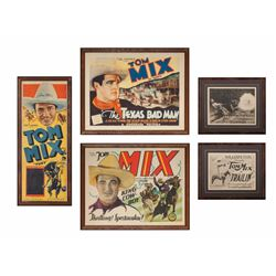 Five Tom Mix Original Lithograph Movie Posters