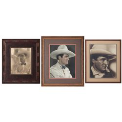 Three Tom Mix Original Promotional Photographs
