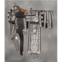 Holtz Saddle Company Sterling Silver Parade Saddle Ensemble