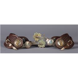 Ornate Bohlin Straps and Conchos on Crockett Show Spurs