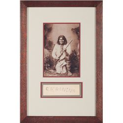 Framed Original Geronimo Autograph from the 1893 Buffalo Exposition