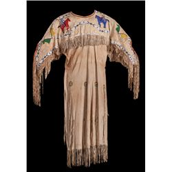 Women's Pictorial Beaded Hide Dress