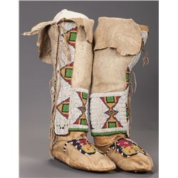 Arapaho High Top Beaded Moccasins