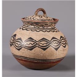 Tesuque Lidded Polychrome Jar