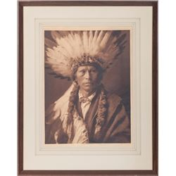 Edward Curtis Photogravure of Chief Garfield