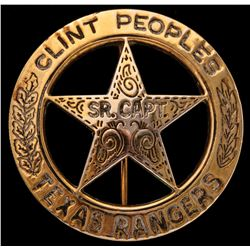 Clint Peoples' Texas Ranger Captains Badge