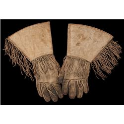 Buck Jones' Fringed Gauntlets