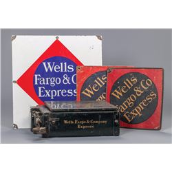 Wells Fargo Call Cards, Sign and Rare Scale