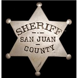San Juan County New Mexico Sheriff Badge