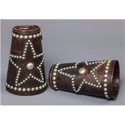 Pair of Texas Star Studded Cuffs