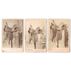 Lot of 3 Very Rare Saddle Advertising Cards