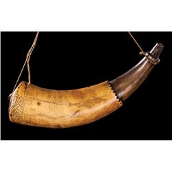 Scrimshawed Powder Horn