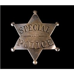Special Police 6 Point Star Badge