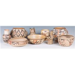 Collection of Hopi, Zuni & Acoma Pottery