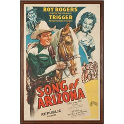 "Roy Rogers ""Song of Arizona"" Movie Poster"