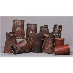 Five Pair of Leather Cuffs