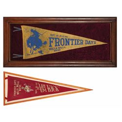 "Two Walla Walla ""Frontier Days"" Pennants"