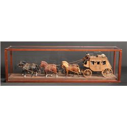 Hand Carved Wells Fargo Stage Coach Model