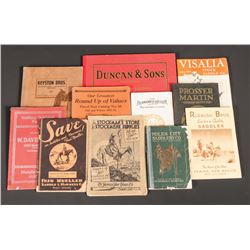Collection of 34 Western Catalogs