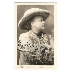 Pawnee Bill / G. W. Lillie Signed Photo Postcard